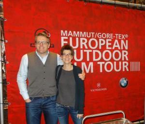 Lars und ich bei der European Outdoor Film Tour 2014